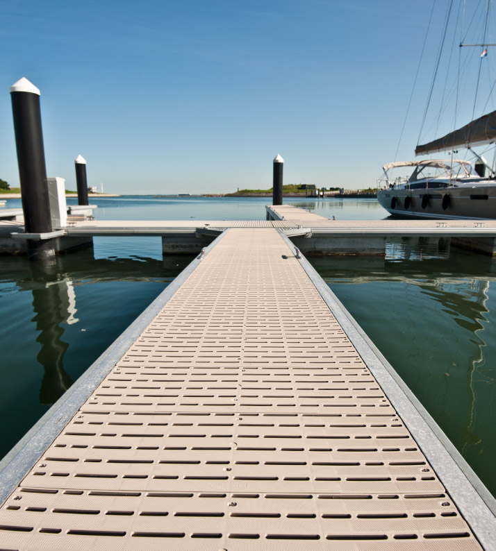 Commercial Pier and Marina Decking Applications - Titan Deck